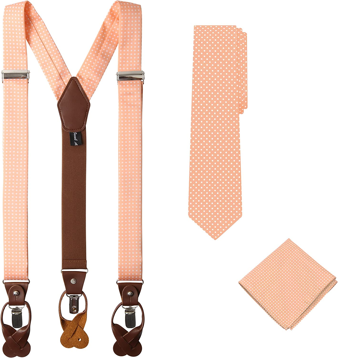 Jacob Alexander Matching Polka Ranking TOP5 famous Dot Suspenders Handkerchief and T