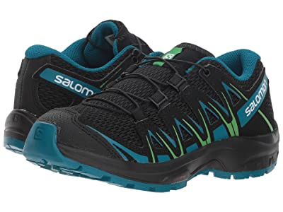 Salomon Kids Xa Pro 3D (Little Kid/Big Kid) (Black/Deep Lagoon/Onlime Lime) Kids Shoes