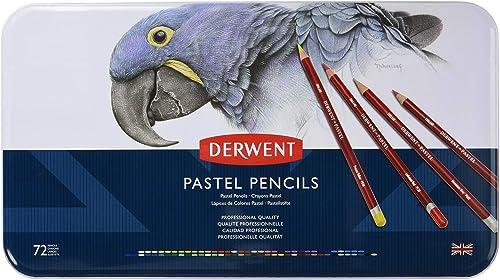 Derwent Pastellstifte in Metallbox, 72 Stifte