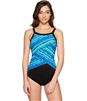 Miraclesuit - Night Lights Color Block High Neck One-Piece