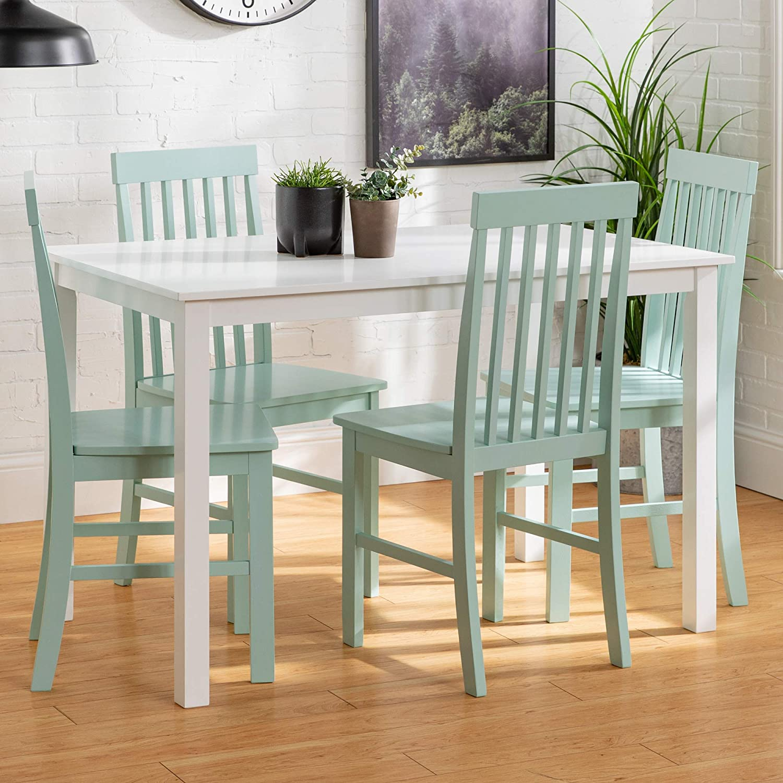 Best Wood 5 Pice Dining Set: Walker Edison Furniture Wood Dining Set