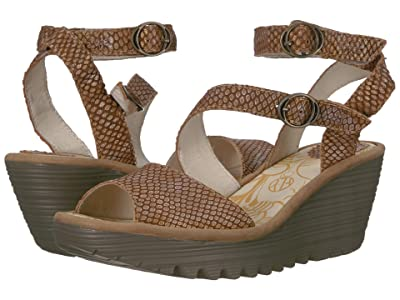 FLY LONDON YISK837FLY (Tan/Camel Palm/Rug) Women