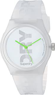 Superdry ' Urban Sport' Quartz Plastic and Silicone Casual Watch, Color:Clear (Model: SYL189WE)