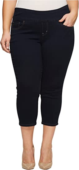Jag Jeans Plus Size - Plus Size Peri Straight Pull-On Denim Crop