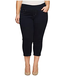 Plus Size Peri Straight Pull-On Denim Crop