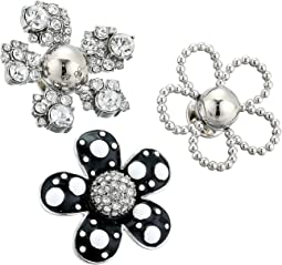 Daisy Polka Dot Brooch Set