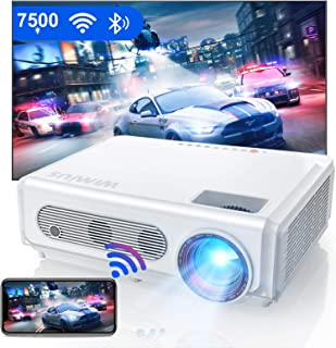 Proyector WiFi Bluetooth 1080P, WiMiUS 7500 Proyector Full HD 1920×1080P Proyector NativoSoporte 4K y Función de Zoom WiF...