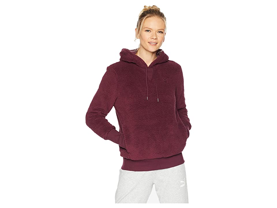 PUMA Downtown Pullover Hoodie (Fig) Women