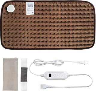 Veken Electric Heating Pad with Fast-Heating Technology, Moist Dry Heat, Auto-Off & Machine Washable, XL Ultra-Soft Heat Therapy Pad for Cramps/Back/Knee/Neck & Shoulders(12