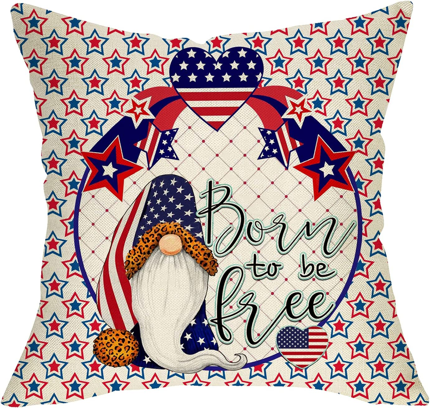 Pycat Born to be Free Throw Memphis New products, world's highest quality popular! Mall Pillow Couch 18x18 Sofa for Cover A
