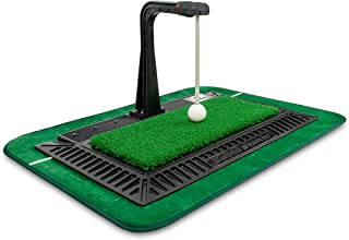 WINNERSPIRIT Golf Training Aid, Auto Kick Back Putting Green, Swing Stick with Speed Controller, Real Impact Swing Mat, Spare Connector, Made in South Korea