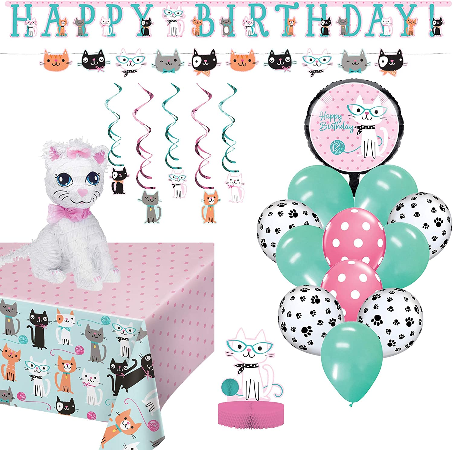 Birthday Party Set    Ya Otta Cat Pinata bundled with Cat Party Supplies and an eBook with Kids Birthday Party Games