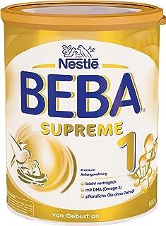 Nestlé BEBA雀巢贝巴 SUPREME 1段初始婴儿奶粉:适合新生儿 即冲即饮 富含植物油 , 6罐装 (6 x 800g)(不含助溶剂,冲泡需用力摇,冲后有结晶非?#20998;饰?#39064;,请放心食用)