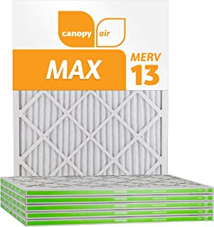 "Canopy Air 16x25x1, MAX AC Furnace Air Filter, MERV 13, Made in The USA, 6-Pack (Actual Size 15 1/2"" x 24 1/2"" x 3/4"")"