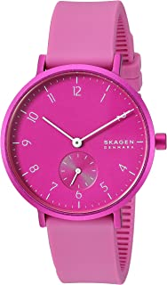 Skagen Women's Quartz Watch analog Display and Silicone Strap, SKW2803