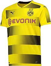 PUMA 2017-2018 Borussia Dortmund Home Football Soccer T-Shirt Jersey