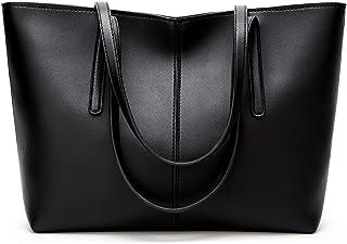 ROSCN Damen Handtaschen Groß Shopper Lederhandtasche Schultertasche Umhängetasche Hobo Damen Taschen Henkeltasche