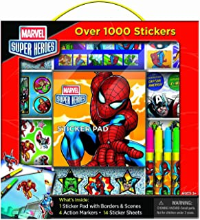 Bendon Marvel Super Heroes Sticker Box with Handle...
