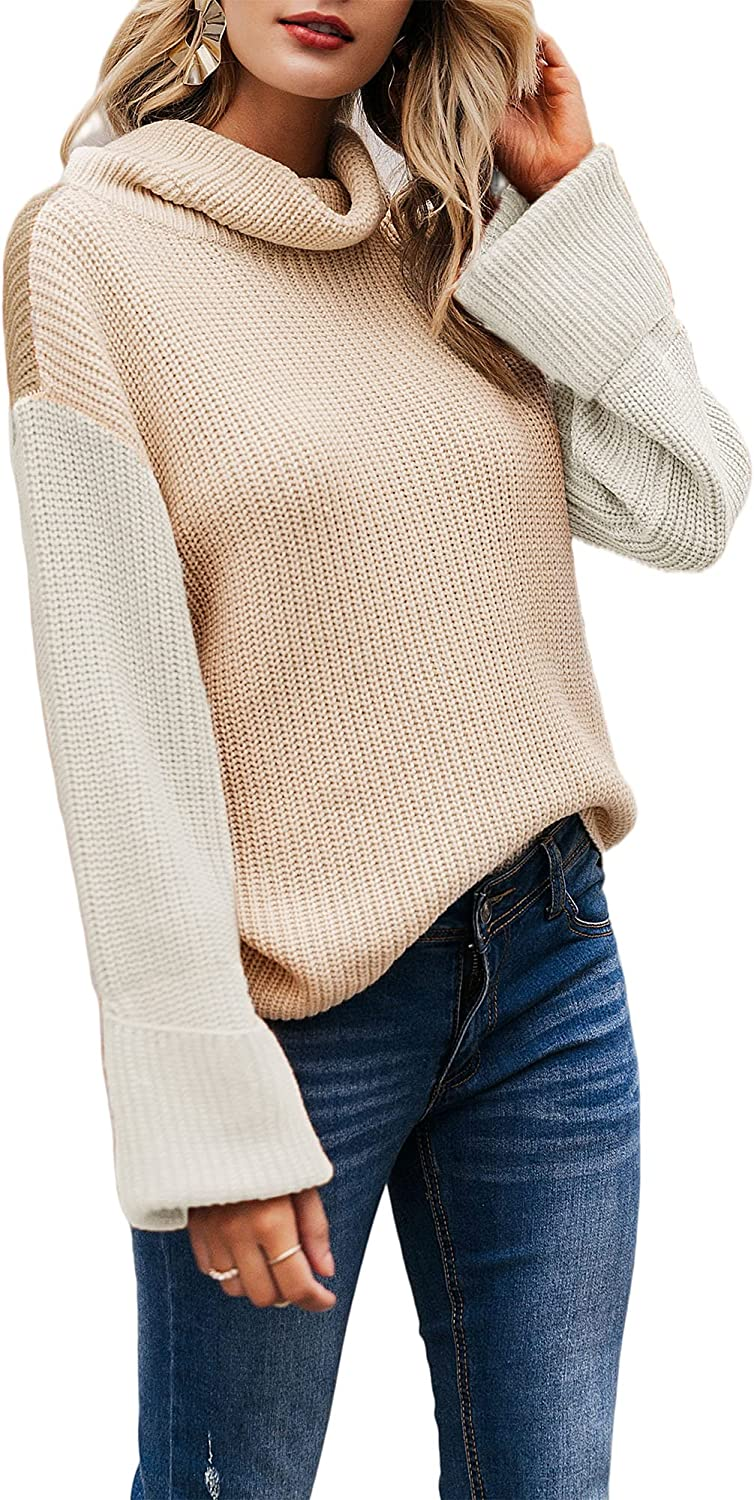 BerryGo Women's Long Sleeve Turtleneck Sweater Knit Pullover Casual Sweater