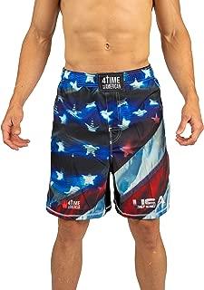 4-Time Shorts, MMA, Fight Shorts, WOD, BJJ, NoGi, Powerlifting, Crossfit, MMA, Muay Thai, Jiu Jitsu, Black, Camo, Blue, Red (Sizes: Youth 3XS to Adult 3XL)