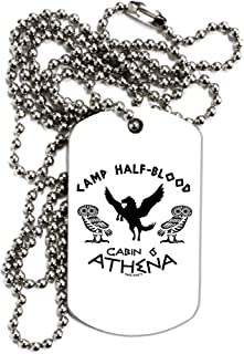 TooLoud Camp Half Blood Cabin 6 Athena Adult Dog Tag Chain Necklace