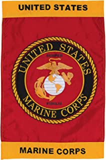 In the Breeze U.S. Marine Corps Emblem Garden Flag - Military Service Flag - Embroidered and Appliqué Design