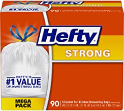 Hefty Strong Trash/Garbage Bags, Kitchen Drawstring