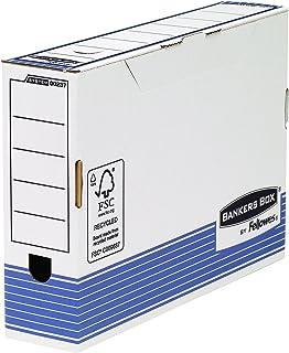 Bankers Box 0023701 Boîte de classement blanche et bleue Dos 80 mm
