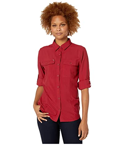 Royal Robbins Bug Barriertm Expedition Dry Long Sleeve Shirt (Rhubarb) Women