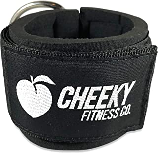 Cheeky Fitness Padded Ankle Straps for Cable Machines | Foot Strap Attachment Cuff for Glute Kickback Leg Workouts