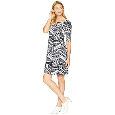 Tommy Bahama Leaf Line Shift Dress (Black) Women