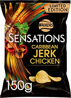 Sensations Jerk Chicken Sharing Crisps, 150 g (Pack of 9)