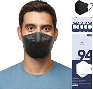 5 pcs KF94 Face Disposal Mask, 4 Layers Virus Filter Protection, Filter Efficiency ≥ 94%, Made in Korea, Large Size Black ...