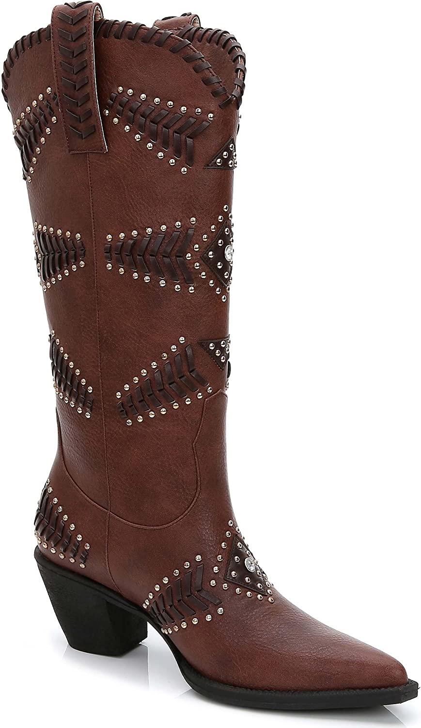 Ann Creek Women's 'Costa' Rhinestone Stud and Texture Boots Genuine Free Shipping Selling rankings