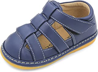 Little Mae's Boutique Navy Blue Boys Squeaky Sandals