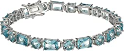 Rhodium/Light Blue Crystal