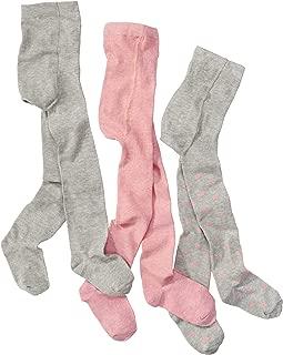 collant per bambini rosa collant per bambini-neonato per bambina set di 3 grigio con puntini alta quota di cotone WELLYOU