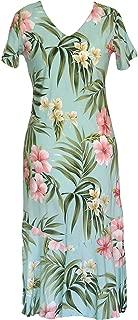 Robert J. Clancey Women's Pale Hibiscus Orchid Tea Length Dress