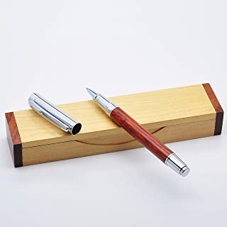 LACHIEVA Rosewood Roller Pen with Elegant Wood Box Pack Compatible Germany Schneider Refill- Perfect for Gifts