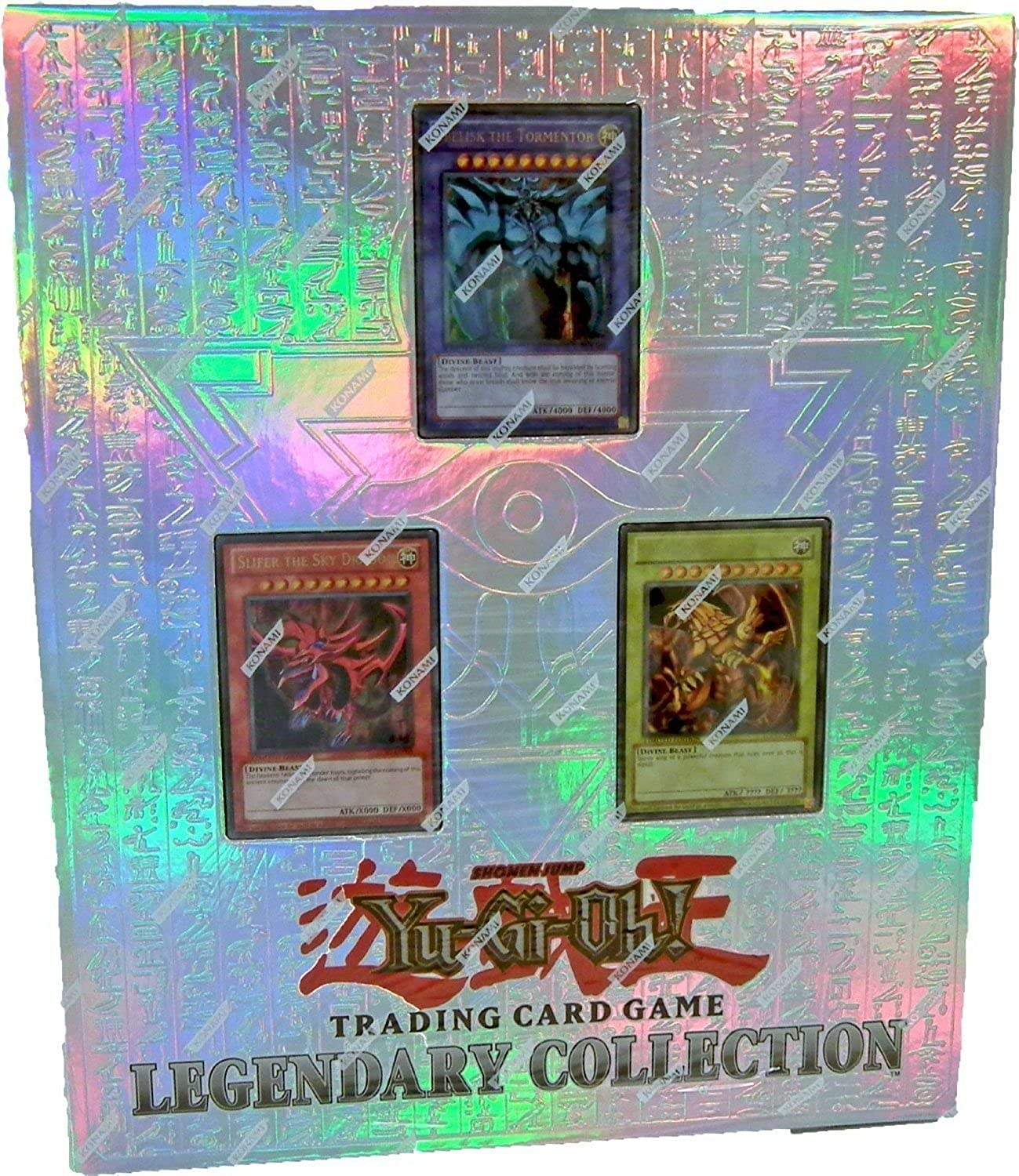 Konami YuGiOh Legendary Collection 10th Anniversary Special Pack with EgyptianStyle 3Ring Binder
