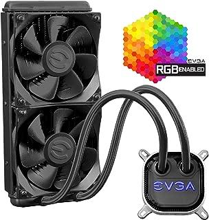 EVGA CLC 240mm All-In-One RGB LED CPU Liquid Cooler, 2x FX12 120mm PWM Fans, Intel, AMD, 5 YR Warranty, 400-HY-CL24-V1