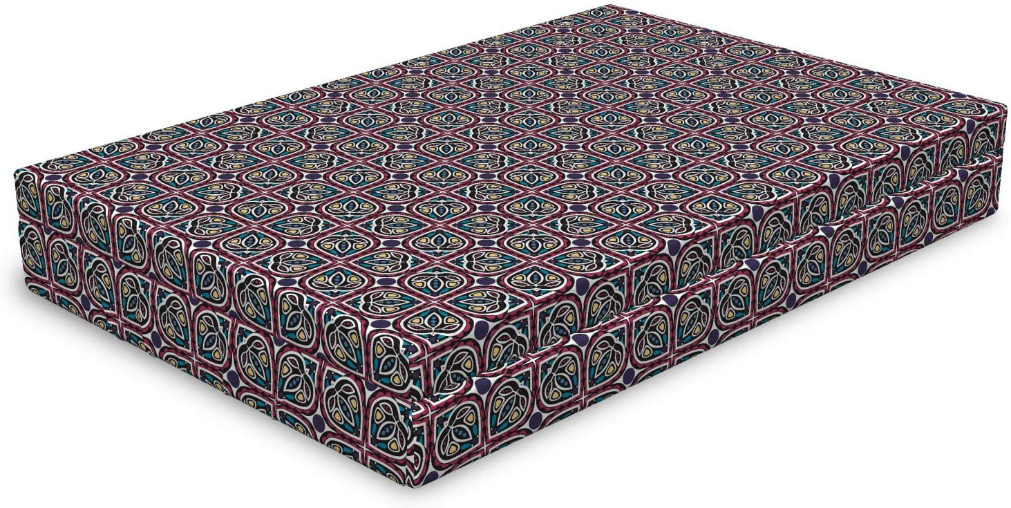 Lunarable Abstract Dog Bed Medieval Branded goods Style Ethnic Repeated Ornam Department store