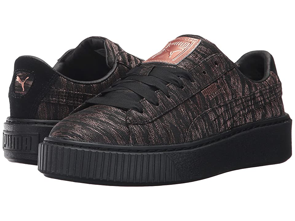 PUMA Basket Platform VR (Puma Black/Puma Black) Women's Shoes