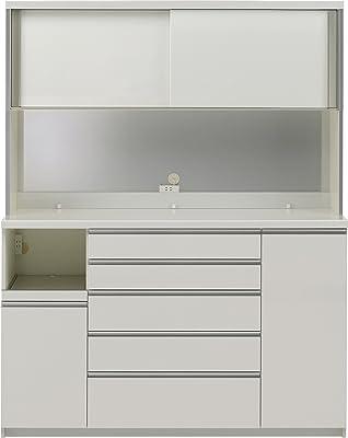 パモウナ 食器棚KG パールホワイト 幅160×高さ203×奥行50 日本製 KGL-1600R