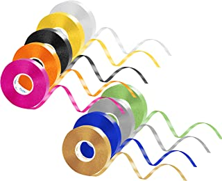 Curling Ribbon Set, 9 Colors 270 Yard Balloon Ribbons Double Face Curling Roll for Gift Wrapping Crafts Wedding Birthday D...