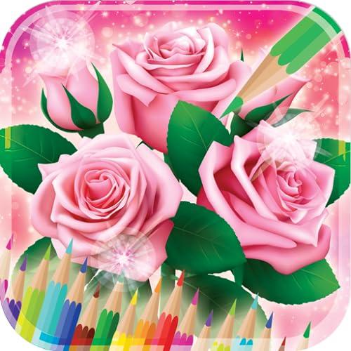 Libro de colorear rosas