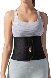 Hot Vita Copper Sweat Belt – Antimicrobial Compression Waist Slimmer – Stomach Band for Women's Workouts – Designed to Increase Circulation and Pain Relief (Black, Small/Medium)