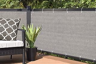 ALION HOME Elegant Windscreen Privacy Screen for Deck, Pool, Railing, Backyard Deck, Patio, Fence, Porch - Smoke Grey (3' x 9')
