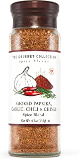 The Gourmet Collection Seasoning Blend, Smoked Paprika, Garlic, Chili & Chives Spice Blend-Salt Free Seasonings for Cookin...
