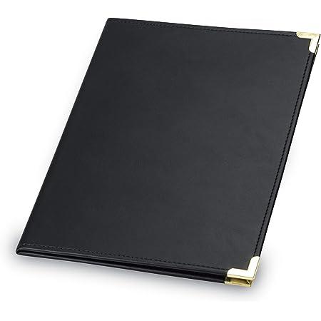 tama/ño carta portapapeles de negocios organizador de almacenamiento para reuniones y entrevistas carpeta de documentos Carpeta A4 Padfolio//Curr/ículum color negro de piel sint/ética portafolios
